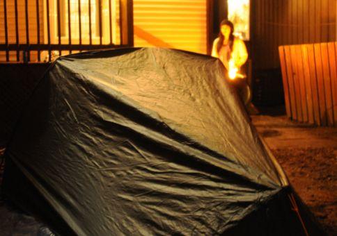 Back yard camp fire