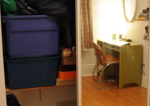 Clean closet (left side)