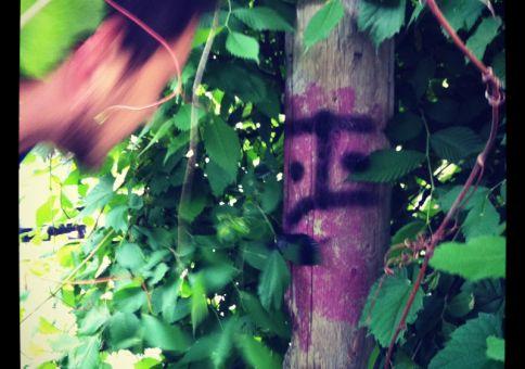 134) Graffiti tag something