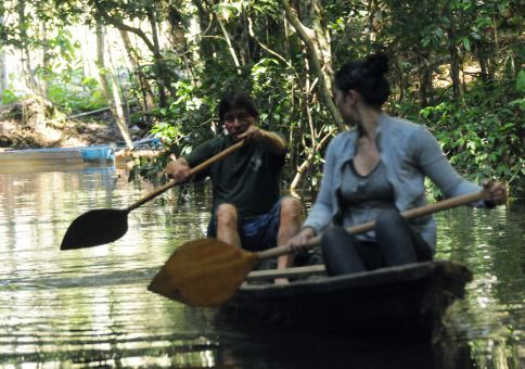 104) Paddle a traditional canoe