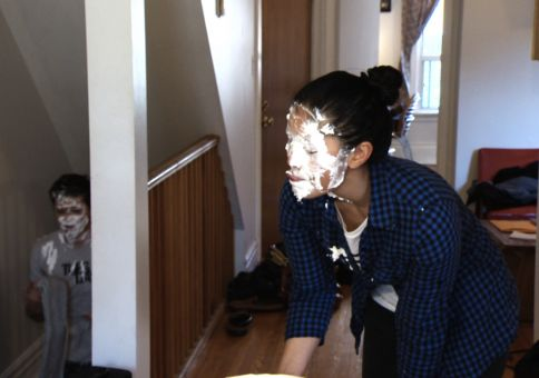 338) Throw a pie in someone's face