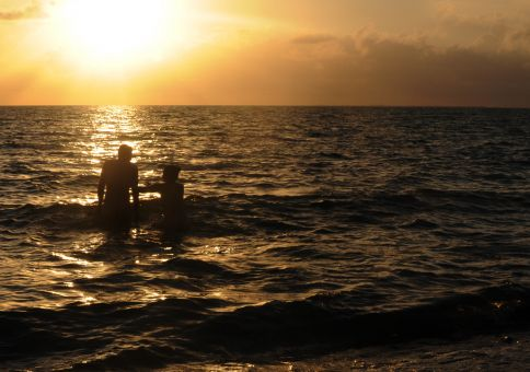 37) Skinny dip in the sea