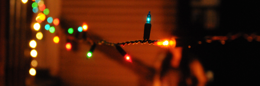 365 things in 365 days Blog Archive 21) String backyard lights